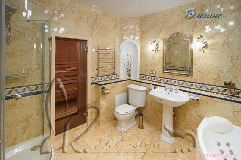 Дизайн сауны с ванной